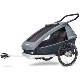 Croozer Kid Vaaya 2 Remorque enfant, graphite blue